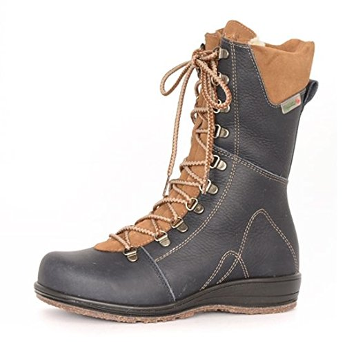 Martino Women's Banff Waterproof Boot,Navy/Brown Grizzly Leather/Suede,US 9 W by Martino