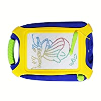 Magnetic Doodle Board, Colorful Drawing Board, Erasable Sketching Pad Kids, Toys Writing Painting Learning (Travel Size)
