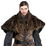 Amscan Gracious God & Goddess Party Furry Shoulder Cape (1 Piece), One Size, Brown