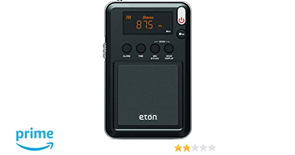 Eton Campo Am/FM con RDS y Radio de Onda Corta, Negro (ngwfb): Amazon.es: Electrónica