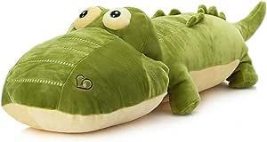 "elfishgo Crocodile Big Hugging Pillow, Soft Alligator Plush Stuffed Animal Toy Gifts for Kids, Birthday, Christmas 25.6"""
