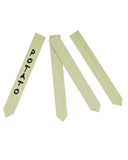60 Wood Garden Plant Label Gardening Stakes Wooden Markers For Field Or  Containers With 1 Marker