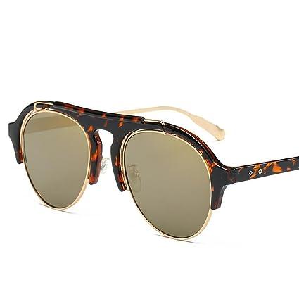 BiuTeFang Gafas de Sol Mujer Hombre Polarizadas de Tendencia de los Hombres y Las Mujeres Gafas