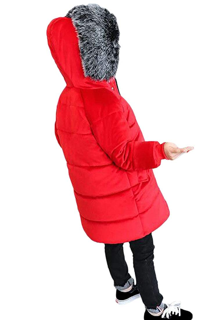 Lutratocro Girls Thicken Cute Classic-fit Quilted Fleece Parkas Coats