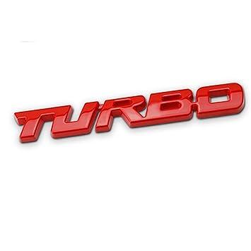 DSYCAR 3D Car Metal Adhesivo de Metal TURBO Car Truck Emblema Etiqueta Engomada para Universal Cars Moto Bike Car Styling Accesorios Decorativos ...