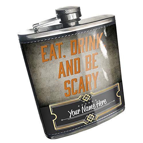 Neonblond Flask Eat, Drink and Be Scary Halloween