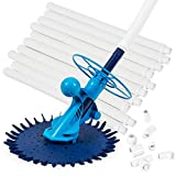 ARKSEN Automatic Inground Above Ground Suction Type Side Swimming Pool Cleaner Vacuum w Hose Set