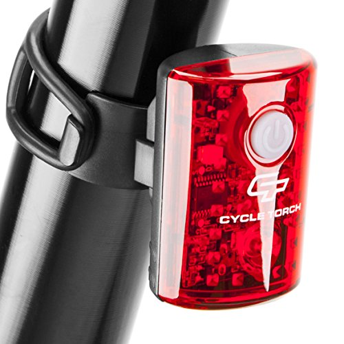 Cycle Torch USB Rechargeable Bike Tail Light MicroBot LED Bicycle Taillight for City Commuters, Kids & Cyclists | Small Detachable Rear Bike Light Safety Red Bicycle Blinker (Best Led Cycle Lights)