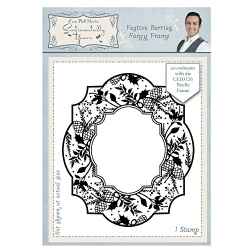 Phill Martin Festive Berries A6 Stamp - Fancy Frame