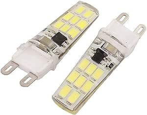X-DREE 2Pcs AC 220V 3W G9 5733SMD LED Corn Light Bulb 16-LED Silicone Lamp Neutral White (6e01ddeb-a222-11e9-8d7c-4cedfbbbda4e)