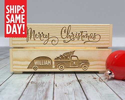 Christmas Eve Box, Christmas Box, Christmas Eve Crate, Kids Crate, Xmas Eve, Gift from Santa, Personalized, Santa Surprise -CR13 from Canoe Baby Crafts