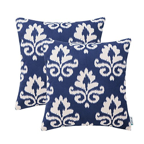 HWY 50 Couch Throw Pillows Covers 18 x 18 inch, Set 2 Thicke