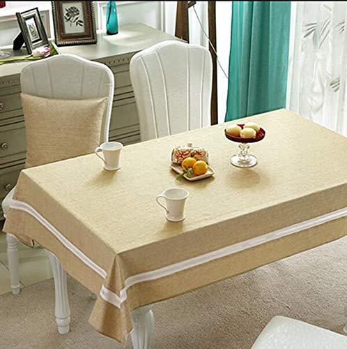 E 140CM200CM Nappes Accueil Tissu Imperméable Table en Tissu à Usage Unique Table De Café Anti-brûlure l'huile Nappe Rectangulaire Table à Manger Moderne