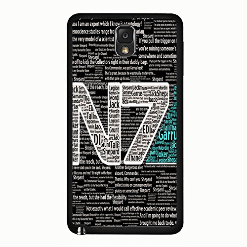 Samsung Galaxy Note 3 N9005 N7 Unique Design Cover Shell Special Creative Quotes Design RPG Game Mass Effect N7 Logo Design Phone Case Cover for Samsung Galaxy Note 3 N9005