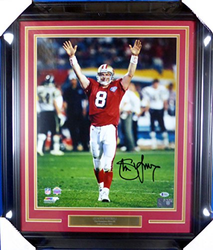3c824a05d77 Steve Young Autographed Framed 16x20 Photo San Francisco 49ers Beckett BAS  by Gameday Sports   Memorabilia