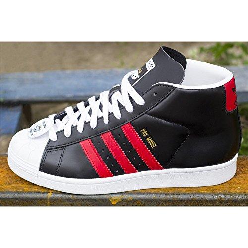Adidas - Pro Model Nigo Bearfoot - S75554 - Farbe: Rot-Schwarz-Weiß - Größe: 40.6