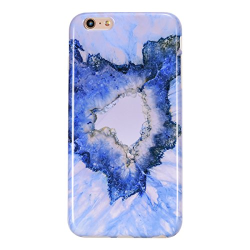 Bumper Silicone Skin (iPhone 6S Plus Case, iPhone 6 Plus Case, AUKOO Blue Marble Design Slim Shockproof Clear Bumper TPU Soft Case Rubber Silicone Skin Cover for iPhone 6S Plus & iPhone 6 Plus)