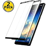 [Full Adhesive 2 Pack]Galaxy Note 9 Screen Protector Tempered Glass [with Anti-Fingerprint] [Bubble Free] [9H Hardness]HD Screen Protector Film for Samsung Galaxy Note 9