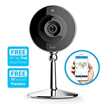 iLuv mySight Wi-Fi Cloud-Based HD Video Camera for Home and Business Monitoring with Cloud Recording, Motion and Noise Detection, Mobile Alerts, Two-Way Audio, Digital Zoom, and Night Vision