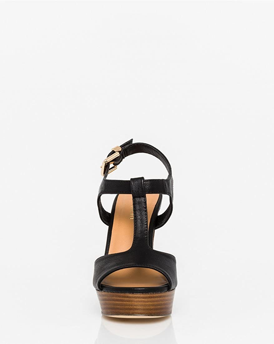 b1ab790a70 Amazon.com | LE CHÂTEAU High Wooden Block Heel T-Strap Sandal | Heeled  Sandals