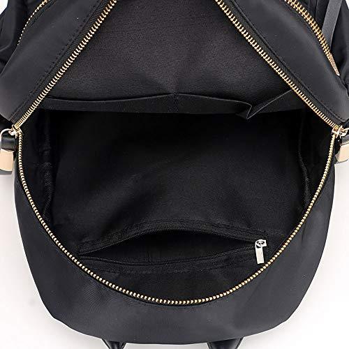 JESPER Nylon Oxford Cloth Backpack Women Backpack College Wind Bag Leisure Bag Black by JESPER (Image #4)