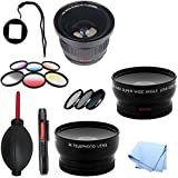 SAVEoN Gopro Lens Adapter with Fisheye & Filters Ultimate Lens Kit for Hero Hd 1 3 & 3+