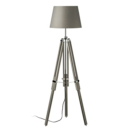 Tripod floor lamp grey wood chrome for home office livingroom tripod floor lamp grey wood chrome for home office livingroom aloadofball Gallery