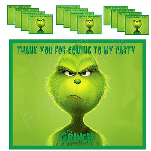 The Grinch Movie Stickers Party Favors Supplies Decorations Gift Bag Label Stickers ONLY 3.75