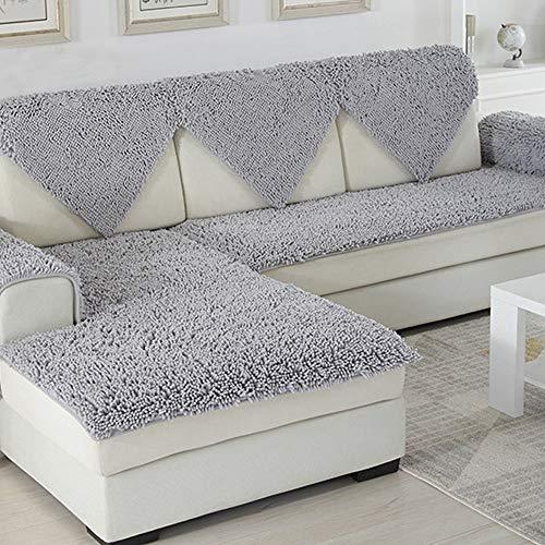 SVIO-SOFACOVER Non-Slip Sofa Protector All Season Couch Cover Grey Luxury Chenille Sofa Cushion Furniture Protector One Piece,28