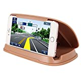 Automotive : Phone Holder for Car, GPS Holder, Car Phone Mount for Samsung Galaxy S9/S9 Plus/S8/S8 Plus/S7/S7 Plus/S6/S6 Plus, iPhone X/8/8 Plus/7/7 Plus/6/6Plus, Nexus, Sony, Huawei, Nokia,Universal GPS - Brown