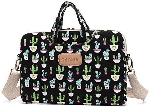 dachee-black-cactus-patten-canvas-laptop-shoulder-messenger-bag-case-sleeve-for-14-inch-15-inch-lapt
