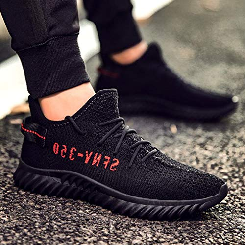 Zapatos Para Transpirable Flyknit Ycsd 8 color Running Primavera Deportivos 5 Calzado Black Deportiva Tamaño Malla uk7 Eu41 Black red cn42 De All Hombre t0qpn0P8