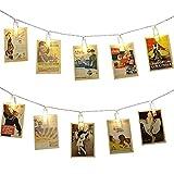 40 LED Photo Clips String Lights - Neretva Battery Operated Photo Clips Lights, Twinkle Fairy String Lights, Ideal Gift for Christmas Wedding Dorm Bedroom Decor,Warm White