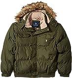 U.S. Polo Assn. Men's Puffer Jacket With Polar Fleece Lining, Forest Night Gjbk, 2X