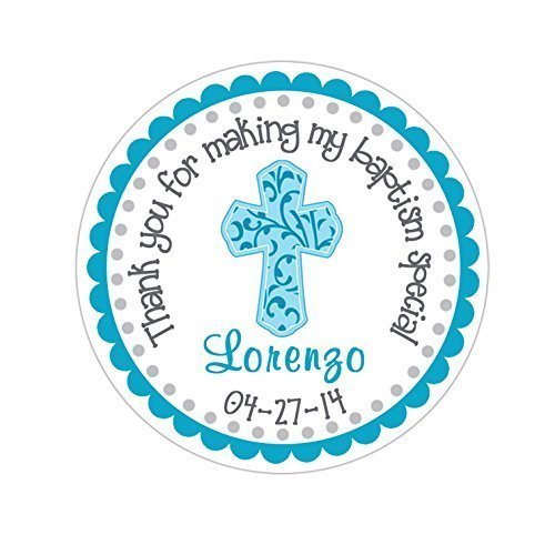 Personalized Customized Baptism Party Favor Thank You Sticke