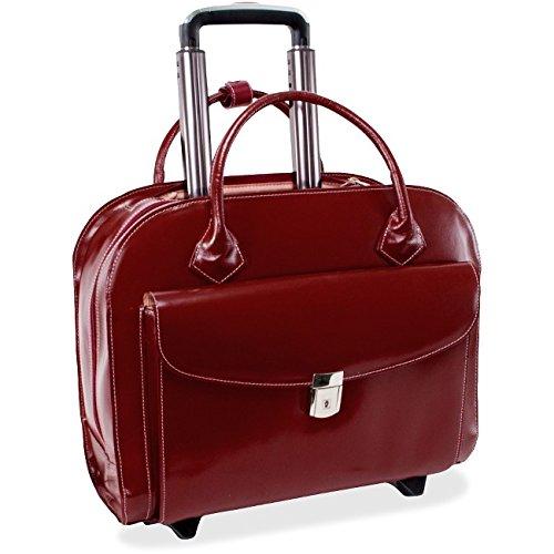 McKleinUSA 15.4' Leather Wheeled Ladies' Laptop Briefcase by McKlein Company, LLC