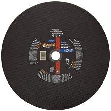 "Norton Gemini Free Cut Large Diameter Reinforced Abrasive Cut-off Wheel, Type 01 Flat, Aluminum Oxide, 1"" Arbor, 14"" Diameter x 1/8"" Thickness (Pack of 1) by Norton Abrasives - St. Gobain"