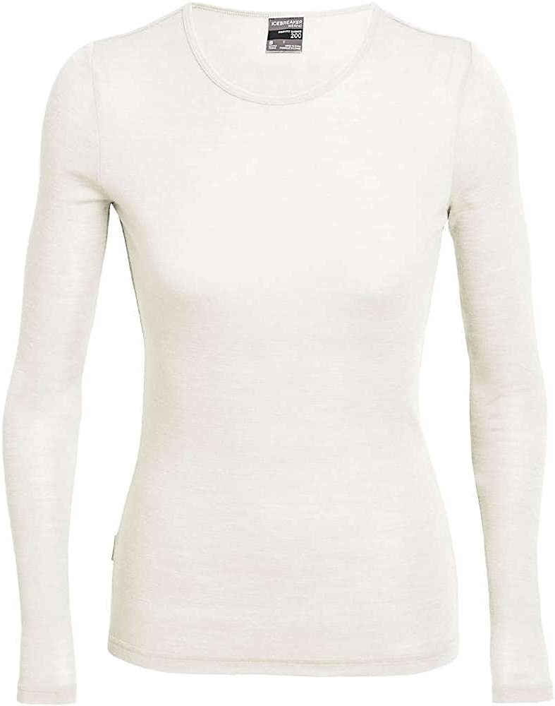 Mujer Blanco Icebreaker 175 Everyday LS Crewe Camiseta Snow L