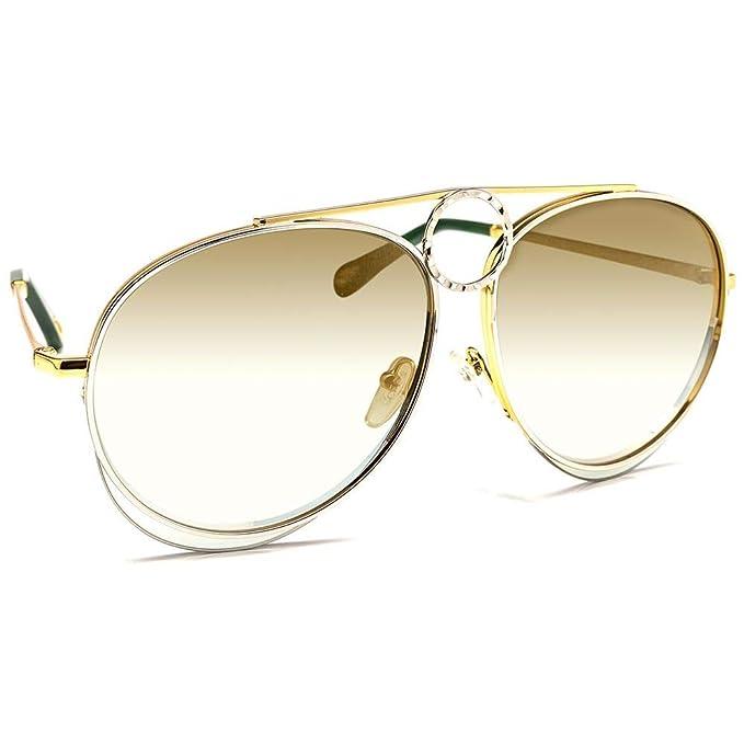 Chloé Gafas de Sol ROMIE CE144S GOLD SILVER/GREEN GOLD ...