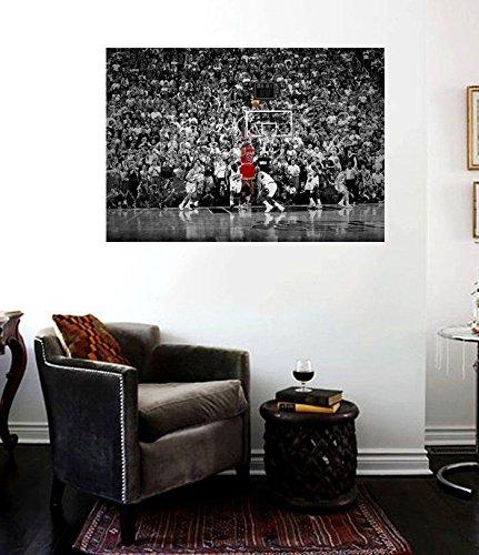 Michael Jordan Last Shot Canvas Print 3.2 Bulls Championship