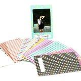 Caiul Nodartisan 20 Different Colorful Sticker Borders (20 Sheets) For Fuji Instax Mini Film (St-08)
