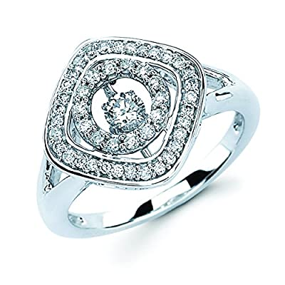 Brilliance in Motion 1/2 Ctw. Dancing Diamond Ring in 14K White Gold