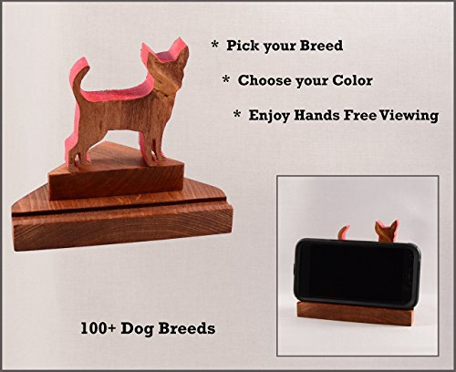 Calling Set Card Border - Customizable Dog Cell Phone Stand ○ Versatile Personalized Pet Smartphone accessory ○ iPhone•Android•Phone•Tablet•Business Card Holder ○ Doggy Pose: Border Collie thru Chow○by DogPound Creations