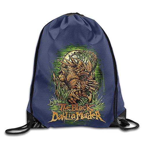 CYSKA Custom Dahlia Metal Core Band Slim Fit Drawstring Backpack White