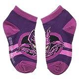Yu-Gi-Oh! Youth Boys Dark Magician Yaml Yugi 4 Pair No-Show Ankle Socks
