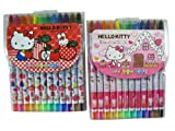 Sanrio Hello Kitty Crayon Set (1pc) - Hello Kitty Crayon Stick Stationary Supplies Pack (Assorted Designs)