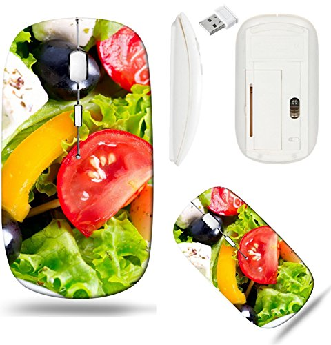 - Liili Wireless Mouse White Base Travel 2.4G Wireless Mice with USB Receiver, Click with 1000 DPI for notebook, pc, laptop, computer, mac book ID: 26390598 Greek Salad closeup with Feta Cheese Tomatoes