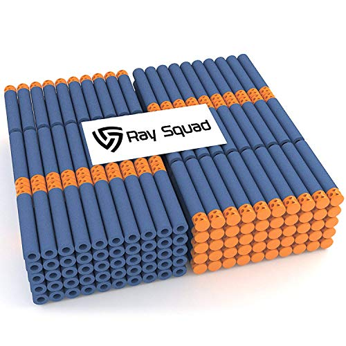 Rays Dart - Waffle Darts 300-Pieces Set, Ultimate Nerf Foam Toy Darts By Ray Squad, Premium Refill Bullets For N-Strike Guns, Universal Mega Pack, Firm and Safe Nerf Accessories Amazing Precision Control