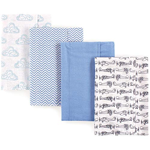7-Pack Peacock Feather Hudson Baby Unisex Baby Cotton Flannel Receiving Blankets One Size