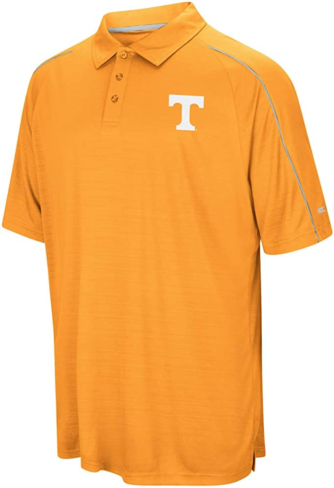 Small University of Tennessee Volunteers Colosseum NCAA Mens Setter Short Sleeve Coachs Polo Shirt